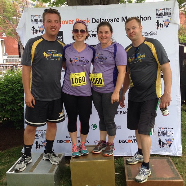 Delaware Marathon Relay with the Leins