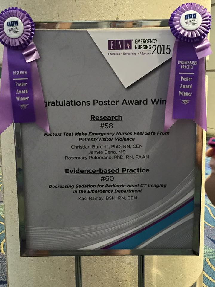Emergency Nursing Association 1st Place Winner!