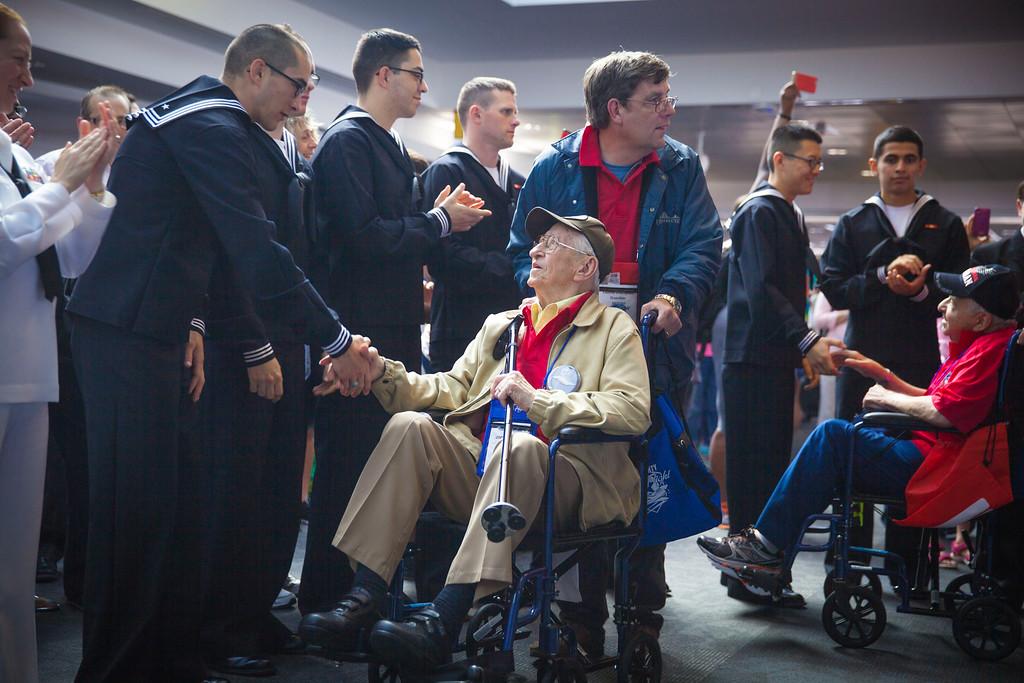 WW2 Veterans Honored at Airport